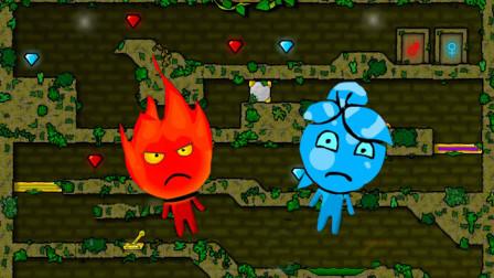 森林冰娃火娃回家记小游戏,成功帮助冰娃和火娃突破困难顺利回家