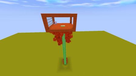 迷你世界:可以在生存中用的树屋,生活在树上也有别样的感觉