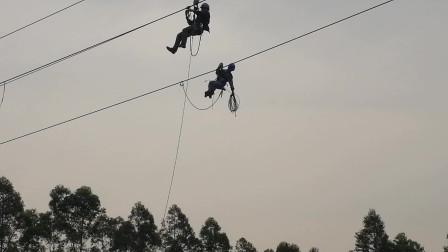 高空作业看上去很危险 他们在上面做什么