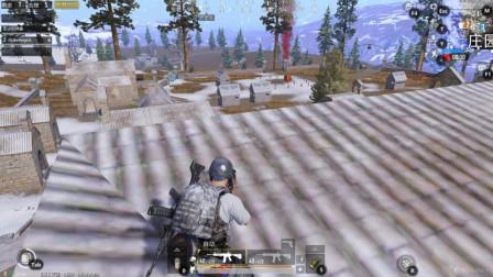 刺激战场:敌人占领塔顶,没想到被我发现,结果敌人跳下去了