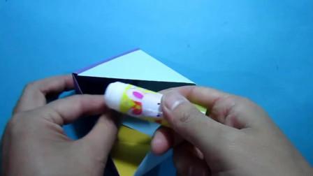 简单的手工折纸 三角形收纳盒子的折法教程