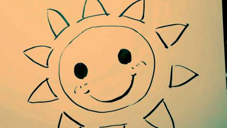你的宝宝会画《太阳公公》吗,少儿绘画零基础入门教程,一分钟学会简笔画