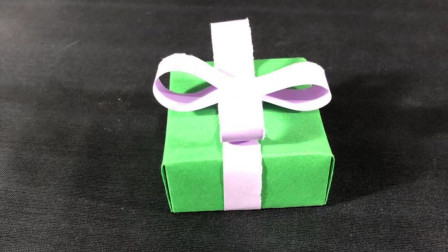 儿童折纸手工教程,好看又简单的礼品盒,一学就会喔~