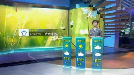 江苏天气预报20190314 江苏时空气象站 20190314 高清版