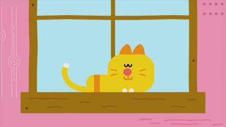 小猫咪正在窗台上午睡,它贪婪地享受着午后的阳光