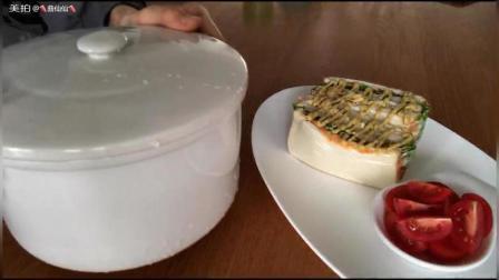 自制酸奶, 金枪鱼鸡胸三明治+樱桃番茄。开启美好一天