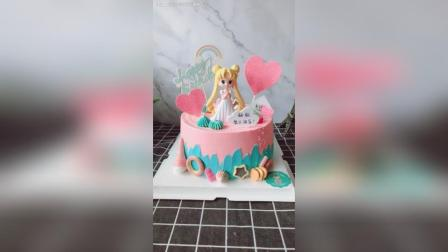 美少女, 8寸生日蛋糕