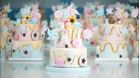 所有翻糖蛋糕插件都是纯手工制作 杜仁杰烘焙学校西点面包烘焙培训