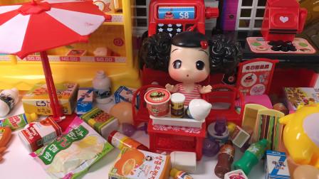 冬己娃娃的甜品屋玩具里的甜品有冰激凌还有糖果,真是太棒啦!