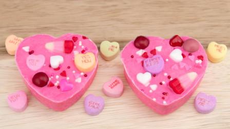 少女心爆棚的糖果爱心巧克力!做法简单,学会了送给你的女孩吧
