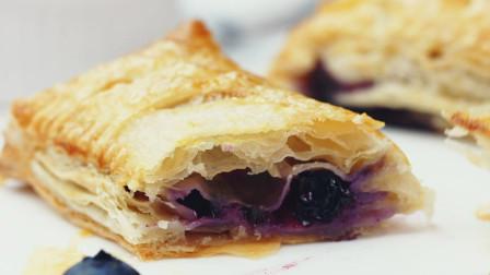 现成材料分分钟搞定的蓝莓派,酥脆掉渣、酸酸甜甜!