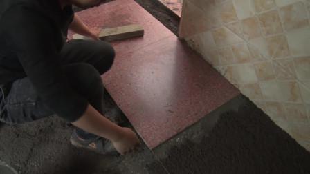 铺地板砖为什么不能泼浆铺?装修师傅带你看看泼浆铺的效果
