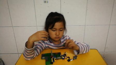 积木拼装玩具 乐高吃鸡积木拼装游戏视频
