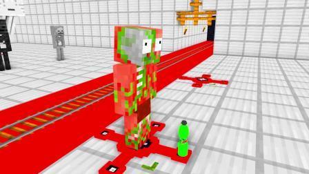 我的世界动画-怪物学院-指尖陀螺版翻水瓶-Sammy