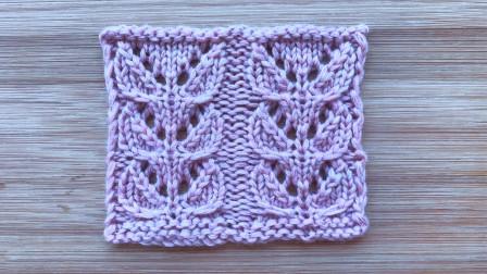 双叶子花的编织方法,简洁大方,织开衫很漂亮编织实例