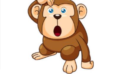 可爱的小猴子儿童卡通简笔画