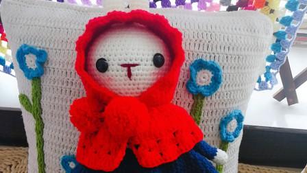织一片慢生活–小红帽抖音爆款望梅兔毛线手工编织钩织教程带图纸毛线编织步骤