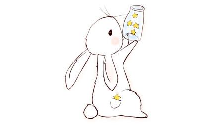 儿童启蒙简笔画,一起学习画小兔子,简单易学的简笔画教程