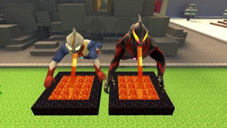 GMOD游戏高斯奥特曼和贝利亚喝岩浆比赛谁最能喝?