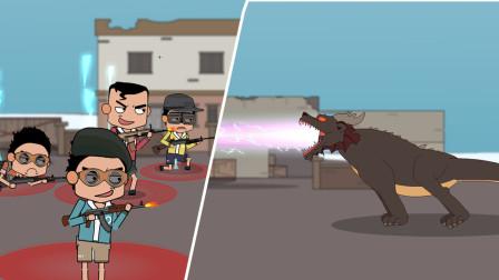 刺激战场:菜鸟4人野队遭年兽突袭,仓惶对战险遭团灭!
