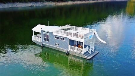 国外牛人设计抗洪房屋,洪水来了秒变船,可升高6米!