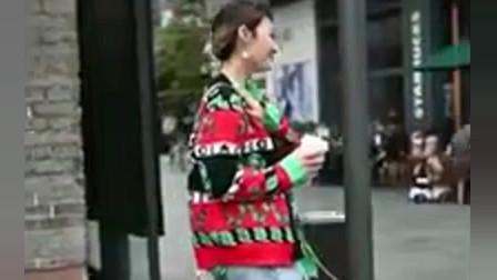 成都街拍瞬间:没有这颜值,还真不敢这样穿