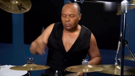 迈克尔杰克逊御用架子鼓手,一波架子鼓演绎MJ经典,太霸气