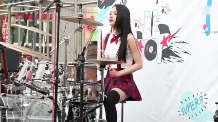韩国女子乐队Bebop美女鼓手,简直太美了!