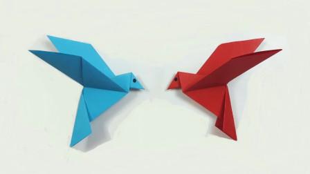 幼儿手工:简单折纸小鸟视频教程,详细好学,值得收藏!