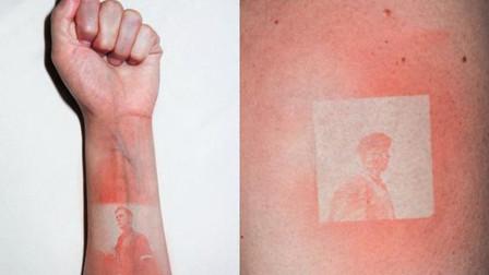 另类的刺青,不用挨针但更肉疼!