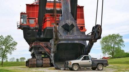 世界上最大的挖掘机,高达40米相当于15层楼,一铲能挖77立方米!
