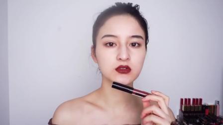 泰国平价唇釉4U2试色,都是妥妥的大牌替代色~