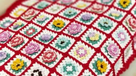 【金贝贝手工坊 279辑】M151祖母花园毯(下)毛线钩针编织钩花毯子视频教程