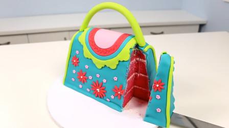 这么漂亮的时尚包包,原来是可以吃的翻糖蛋糕?送给你的女孩吧