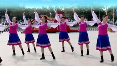 汕头燕子广场舞《一朵白云在蓝天飘过》团队演示教学