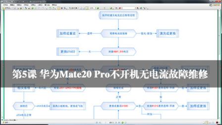 华为Mate20 Pro不开机无电流故障维修 手机维修培训学校内部 视频资料