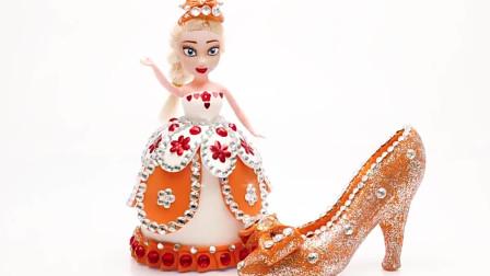 儿童动画橡皮泥制作迪士尼公主与高跟鞋