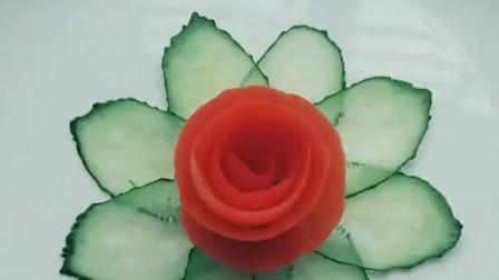非常简单的黄瓜与圣女果的完美结合摆盘,朋友来家很有面子