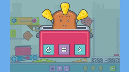 吐司面包小游戏:新出现的牛奶阻挡了蜘蛛和面包的爱恬恬解说