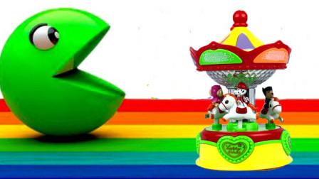 小猪佩奇和汪汪队木马玩具