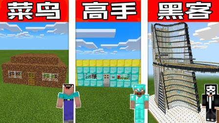 我的世界Minecraft菜鸟vs高手vs黑客:新手屋挑战