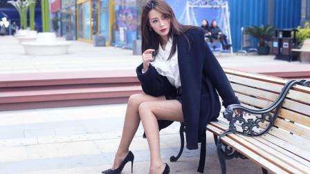 《优雅的咖色》气质长腿女神妮妮