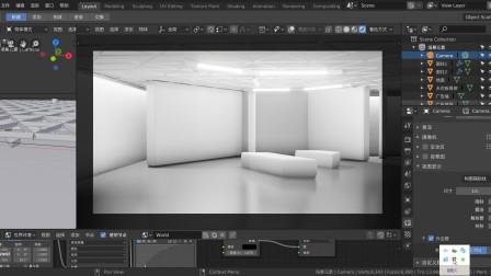 blenderCN-大课堂-建筑效果制作12-展览展示实例A实例灯光布局