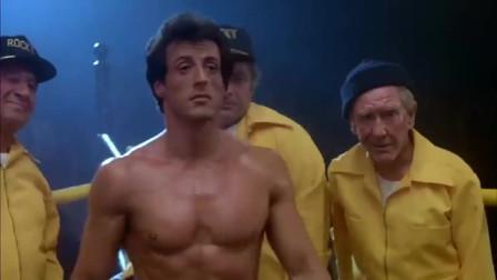 史泰龙和摔跤手打比赛,刚开始以为是表演,结果被暴揍