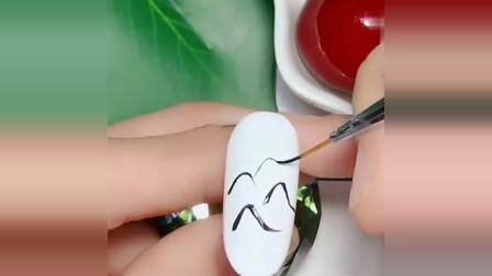 美甲达人:中国水墨画美甲,山水的风雅,让你拥有不一样的内涵