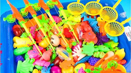 海底小纵队和熊出没钓鱼玩具