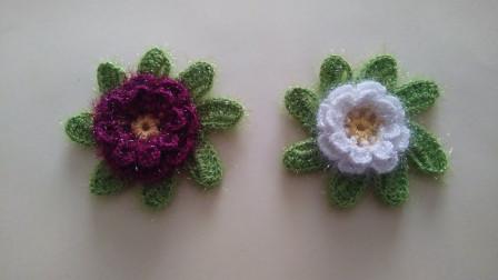 「时尚针织」钩针花朵,美得不像话!