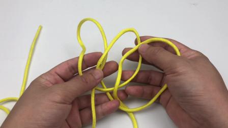 三环收绳结,此绳结可在不剪断绳子的情况下,快速缩短绳子