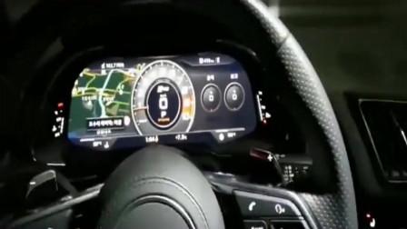 新买的奥迪R8试车,按下钥匙飙到200后,才明白钱花到位了