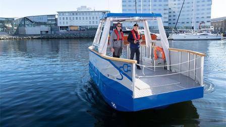 全球首艘无人驾驶渡轮,无线充电,自动运人过河,成为水上电梯
